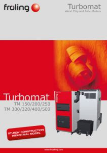 large scale Froling Turbomat biomass boiler brochure Shaw Renewables Biomass Boiler specialists